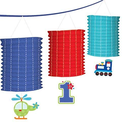 """All Aboard Boy"" Paper Lantern Garland, Birthday"
