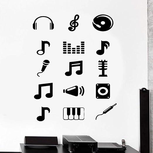 Finloveg Tatuajes De Pared Música Melodía Notas Musicales Guitarra ...