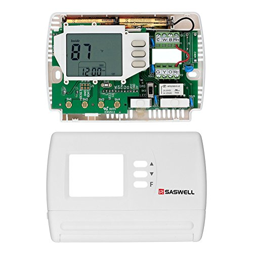 Single Stage 5-2 Programmable Thermostat,24 Volt or Millivolt System,1 Heat 1 Cool,Saswell SAS900STK-2 by Saswell (Image #3)