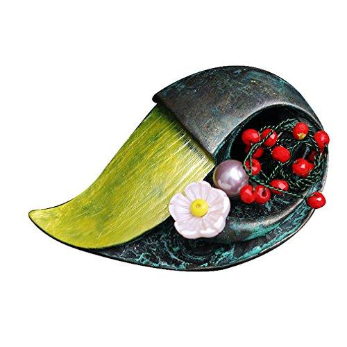 Geometrical Pearl Clasp - autulet Brooch Pins Flower Fashion Geometrical Shape Large Vintage Wedding Bridal Brooch Pendant Scarf Pins