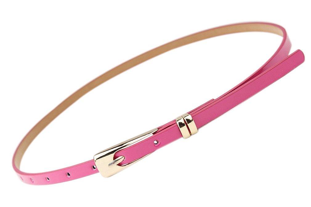 Bigood Women's Slender Candy Buckle Waistband Thin Skinny Belt Dress apparel-belts