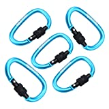 DX 5PCS 8cm Type-D Alloy Quick Release Carabiner for Cycling, Hiking