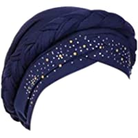 Turbante para mujer, estilo musulmán, elástico, para pérdida de cabello, pañuelo para la cabeza
