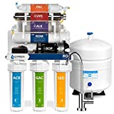Express Water Alkaline Ultraviolet Reverse Osmosis Filtration System - 11 Stage RO UV Mineralizing Alkaline Purifier with Faucet and Tank - Mineral, Antioxidant, pH + - Pressure Booster Pump - 100 GDP