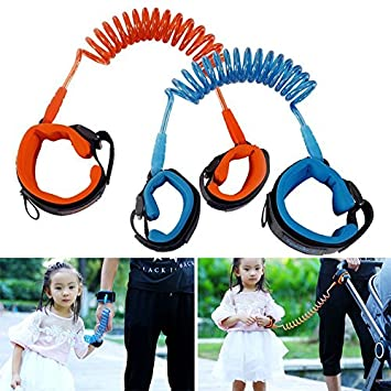 Anti Lost Link Wrist Harness Leash Safety Rope For Children Baby Kids 1.5M Blue