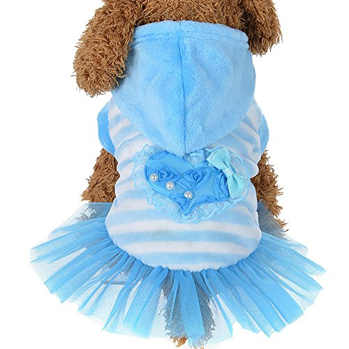 Pet Winter Clothes Cinsanong Fashion Cute Velvet for Dog Lovely Puppy Dress ()