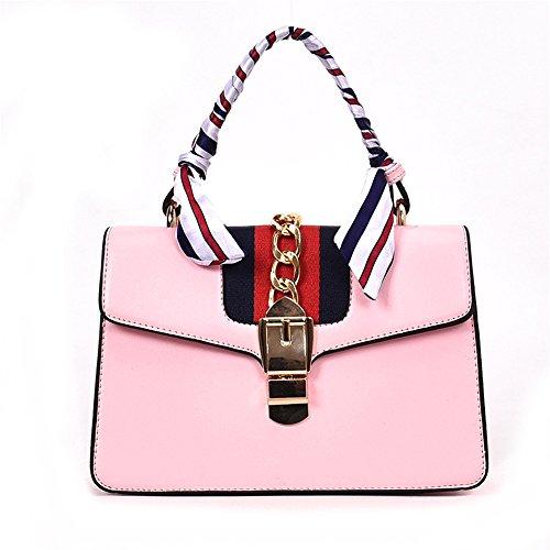 À Neuf Chaîne À Rouge Bandoulière Messenger Meaeo Bandoulière Sac Pink Femelle Bag Sac apTwOA6