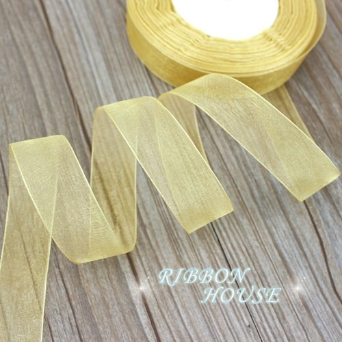 FunnyPicker (50 Yards/Roll) 3/4''(20Mm) Organza Ribbons Wholesale Gift Wrapping Decoration Christmas Ribbons Pale (Dance Costume Dressmaker)