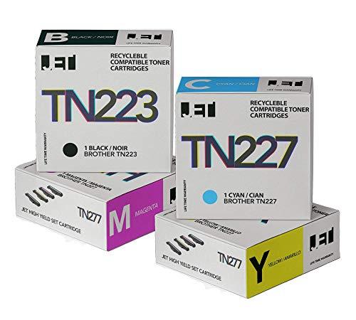 Brother TN223 TN227 Toner Cartridge - Jet Compatible Toner Cartridge Replacement for Brother TN-223 / TN-227 (mfc l3770cdw hl-l3290cdw hl-l3290cdw) -  Pacroban, JET_BROTHER_TN223_TN227_1SET