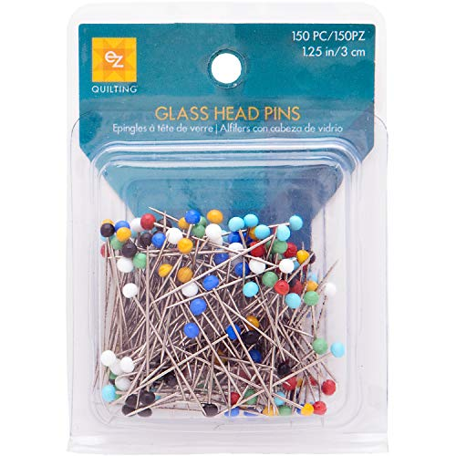 - Wrights 881426 Glass Head Multicolor Pins, 150-Pack