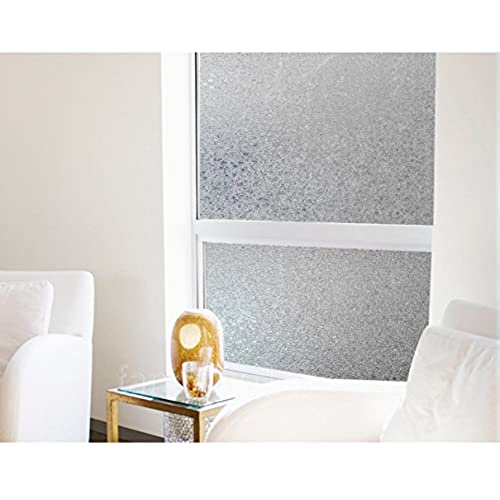 Coavas Decorative Crystal Damaskeen Window Film Privacy Frosted Window  Glass Film Use In Home Bathroom Bedroom Outdoor 17.7 Inches78.7 Inches