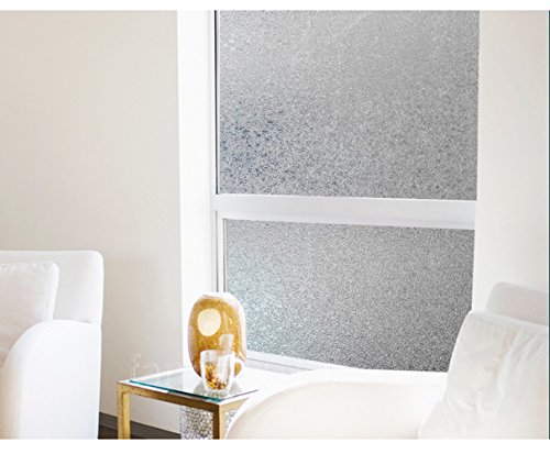 Coavas Decorative Crystal Damaskeen Window Film Privacy Frosted Window Glass Film Use in Home Bathroom Bedroom Outdoor 17.7 Inches78.7 Inches by Coavas