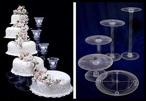 5 Tier Cascade Wedding Cake Stand (STYLE R500)
