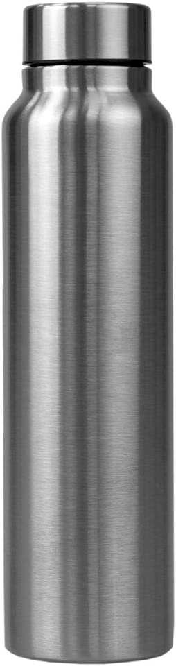 Home Basics Andes 30 oz. Stainless Steel Travel Bottle, Silver