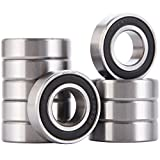 XiKe 10 Pack 6003-2RS Bearings 17x35x10mm, Stable Performance and Cost-Effective, Double Seal and Pre-Lubricated, Deep Groove Ball Bearings.