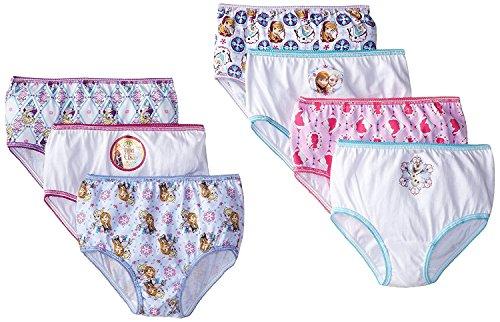 (Disney Little Girls' Frozen Panties 7 Pack, Elsa, Anna (4t))