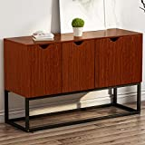 "LITTLE TREE Console Sofa Table Standing Storage Cabinet Side Organizer Unit, 47.24""x15.75""x31.50"", Cherry"