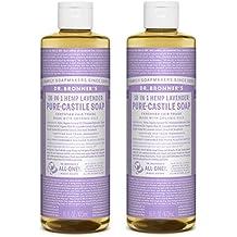 Dr. Bronner's Pure-Castile Liquid Soap Shower and Travel Pack - Lavender 16oz. (2 Pack)