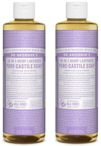 - Dr. Bronner's Dr. bronneras pure-castile liquid soap shower and travel pack - lavender 16oz. (2 pack)
