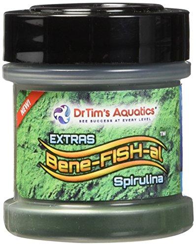 Dr. Tim's Aquatics Bene-FISH-al EXTRAS  Organic Fish Treats Hawaiian Spirulina  SUPERFOOD, Energy & Color Boosting Vitamins + Anti-Oxidants + Fiber + Protein