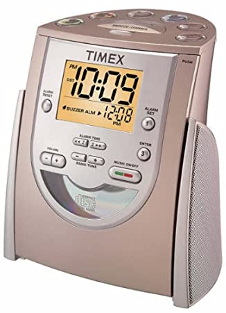 how to set time on timex cd alarm clock