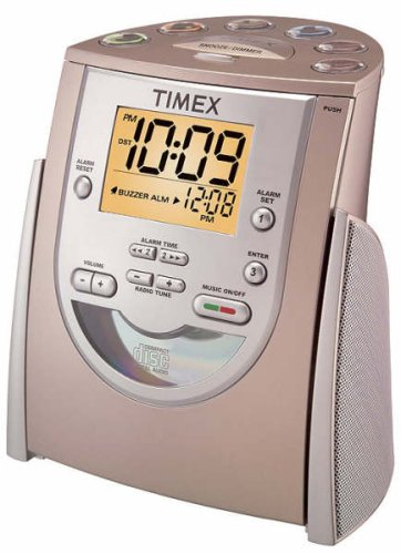 amazon com timex cd am fm clock radio with mp3 line in t622h home rh amazon com timex t622h manual