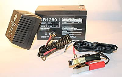 12V 8Ah Replacement for Zap Zappy 3 EZ Scooter Battery - 12V 1Ah Charger