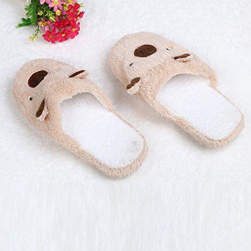 Chaussures coton confortable sol en Chaussons Accueil Lovely Bear CaféA souple Fami rembourré qwYv6x8
