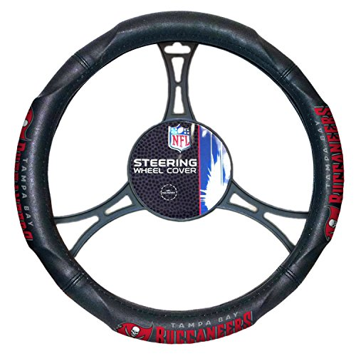 Bucs OFFICIAL National Football League, Steering Wheel Cover (made to fit steering wheels 14.5 15.5) by Northwest Official