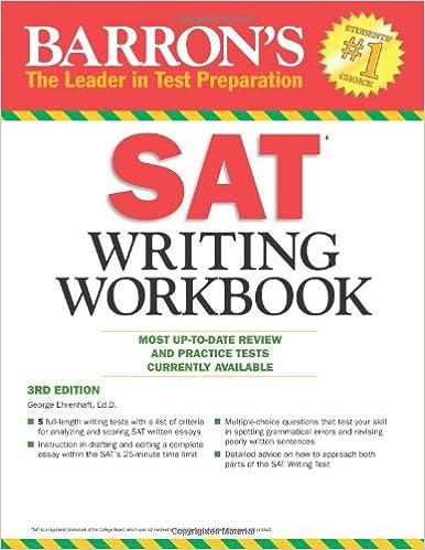 Amazon.com: Barron's SAT Writing Workbook, 3rd Edition (Barron's ...