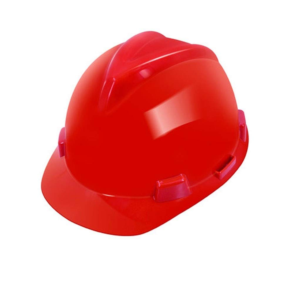 FEI JI Hard Hats - Construction Site Anti-collision ABS High Strength/High Temperature/Breathable Adjustable Protective Helmet - Head Protection Equipment, Safety Accessories (Color : Red)