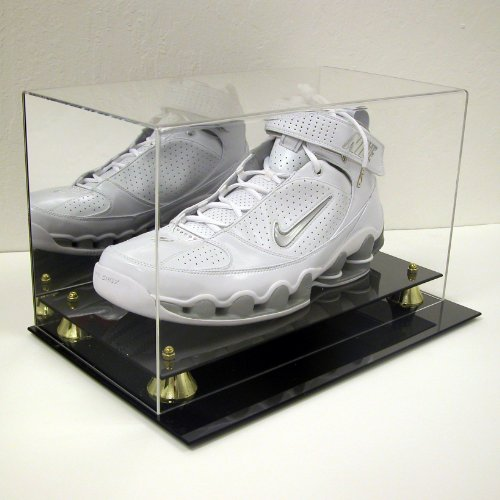 DELUXE BASKETBALL SINGLE SHOE DISPLAY CASE HOLDER to SIZE 22 w/ UV ()