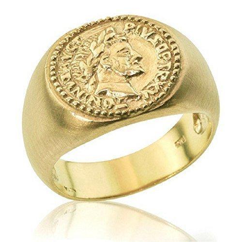 490bdfce50ef3 Amazon.com: Father's Day Handmade Statement Roman Coin 14K/18k Gold ...