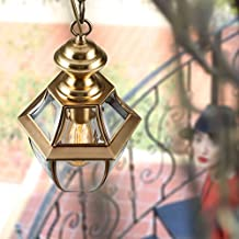 Outdoor full copper chandelier / villa garden lamp / retro simple Western-style corridor creative lamp