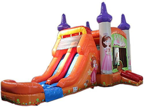 Commercial Grade 28 Foot Princess Wet/Dry Combo Bounce House Inflatable