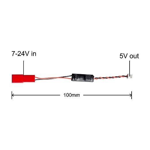 AKK 4pcs Voltage Step Down Converter DC 7-24V In 5V Out Regulator 3-K-15