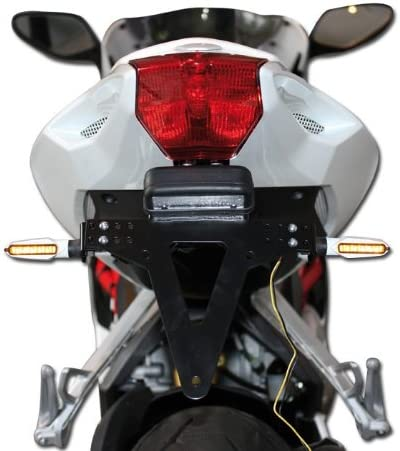 wei/ß Motorrad LED Blinker Slight M8 get/önt E-gepr/üft Blinkfunktion V+ H L 82mm x B 14mm x H 21mm