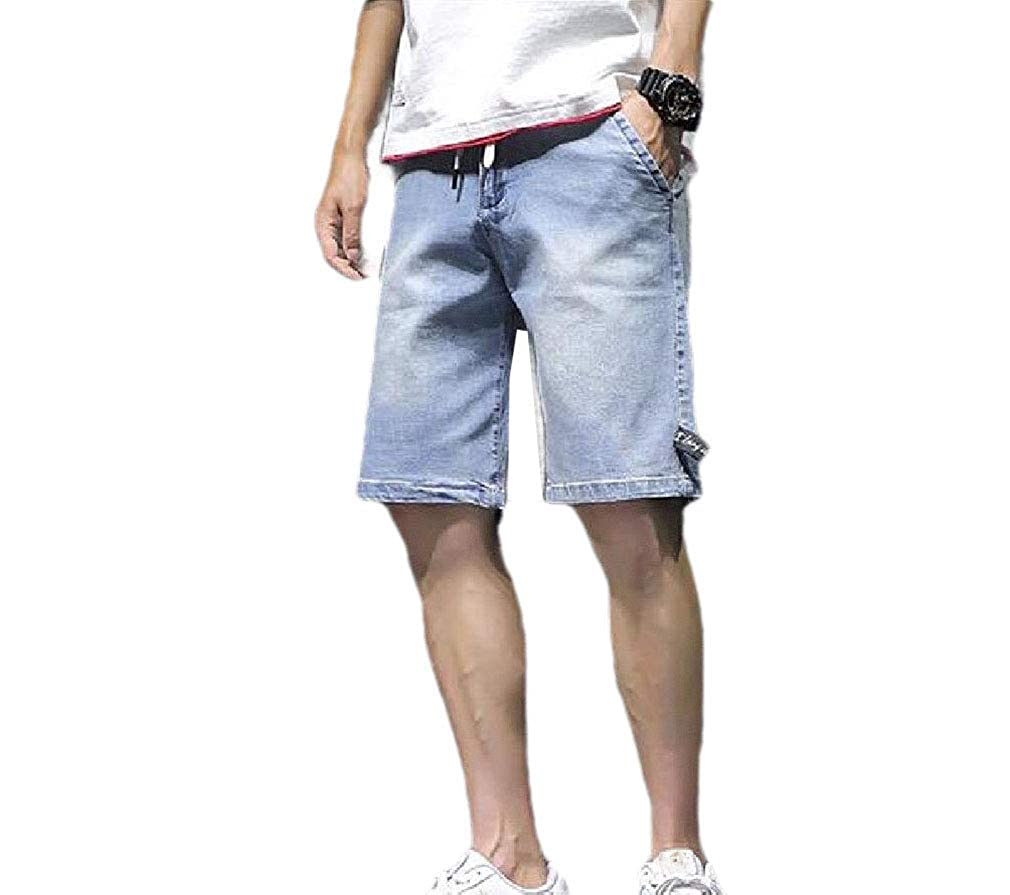 Coolred-Men Casual Washed Fashion Summer Loose Fit Straight Leg Pants
