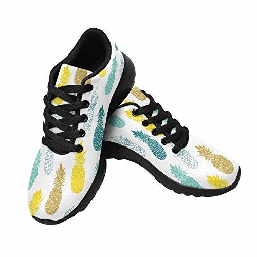 Interestprint Mujeres Trail Running Zapatos Jogging Ligero Deportes Walking Athletic Sneakers Blue Yellow Pineapples Multi 1