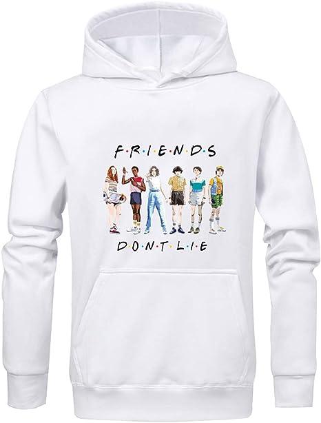 Pull Stranger Things Femme Friends Dont Lie Gar/çons Fille Sweat A Capuche Sport Sweat Shirt Hoodie Sweatshirt Fan De Sport Streetwear Sweat-Shirt Stranger Things Ado Fille