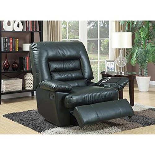 Serta Big & Tall Memory Foam Massage Recliner Black