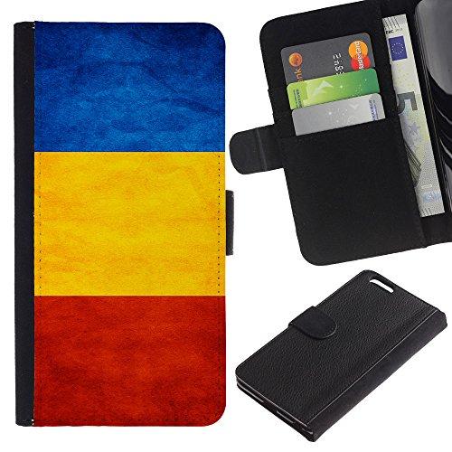 EuroCase - Apple Iphone 6 PLUS 5.5 - Romania Grunge Flag - Cuir PU Coverture Shell Armure Coque Coq Cas Etui Housse Case Cover