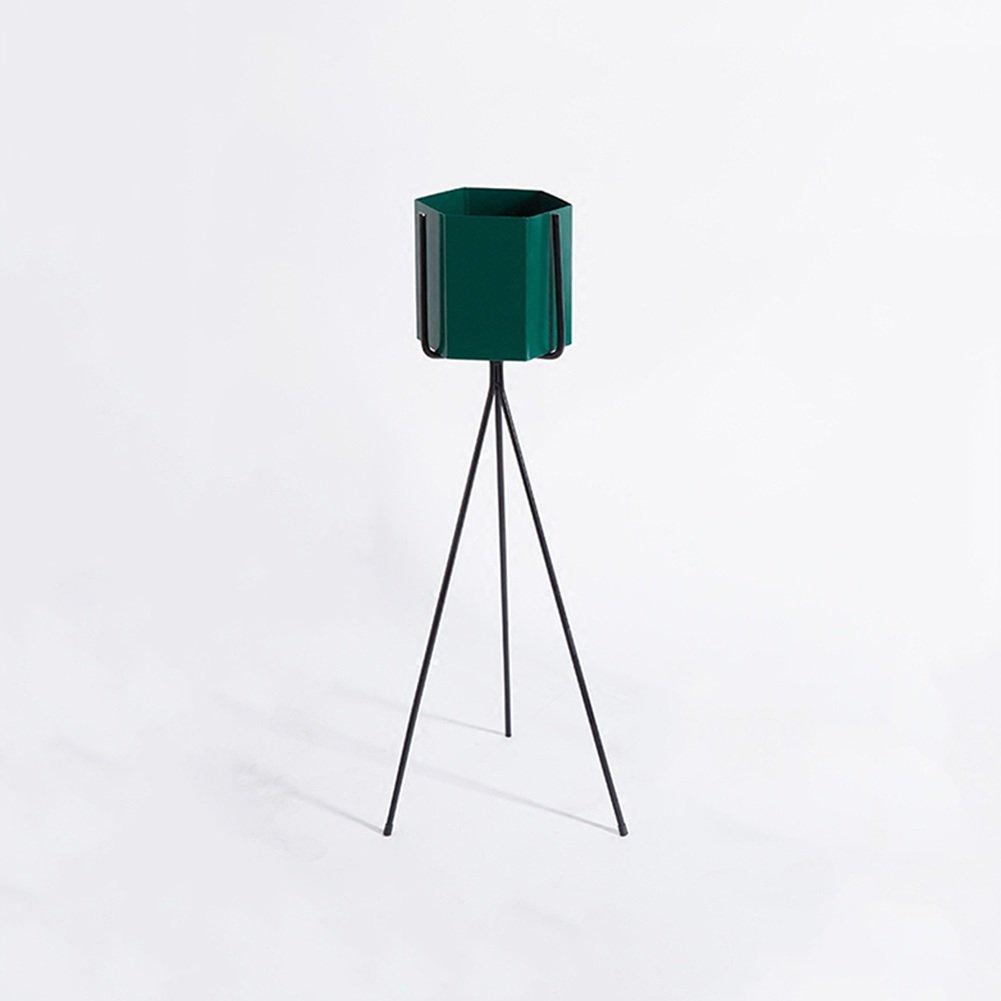 ZX Scaffali Porta Piante al Coperto Stand di Fiori Floorstanding Arte del Ferro Stand di Fiori Camera da Letto Balcone Semplice Stand di Fiori Ripiani Mensole (Dimensioni   Large)