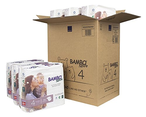 Bambo Nature Premium Baby Diapers, Size 4 (2 Cases of 180) by Bambo Nature