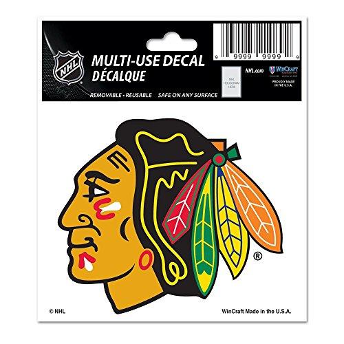 WinCraft NHL Chicago Blackhawks 73582014 Multi-Use Decal, 3