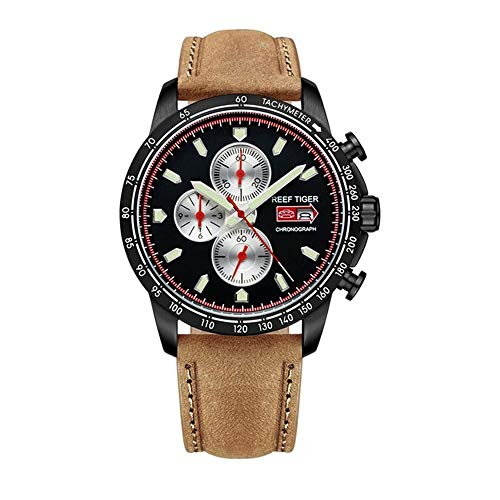 - LiBetyd RT Sport Watch for Men Chronograph Quartz Watch with Italian Calfskin Leather and Super Luminous Watch-RGA3029-BBBW