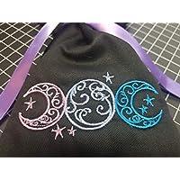 Triple Moon Embroidered Tarot/Rune Bag
