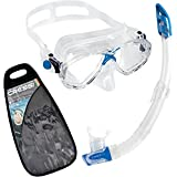 Cressi Marea and Gamma Snorkel Combo (Made in Italy)