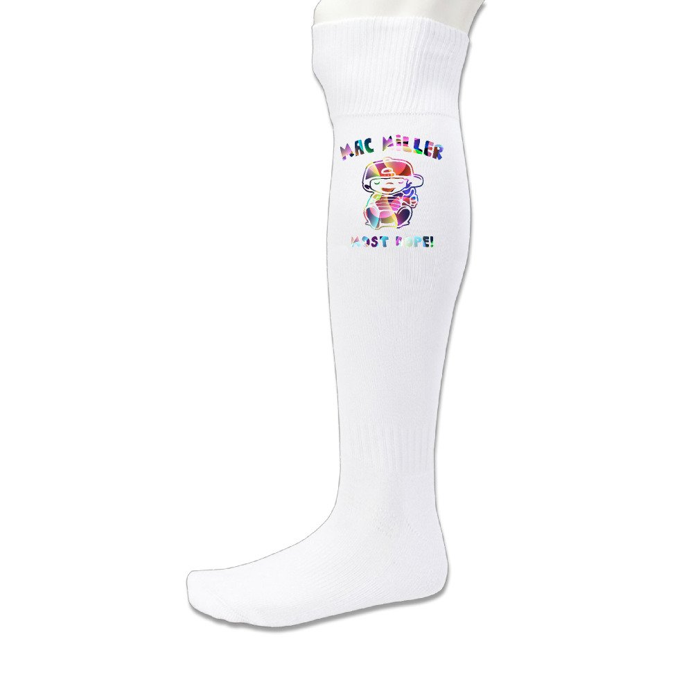 BENZ47' Unisex Adults Sports Athletic Mac Miller Soccer Socks Over Knee High Socks BENZ47'