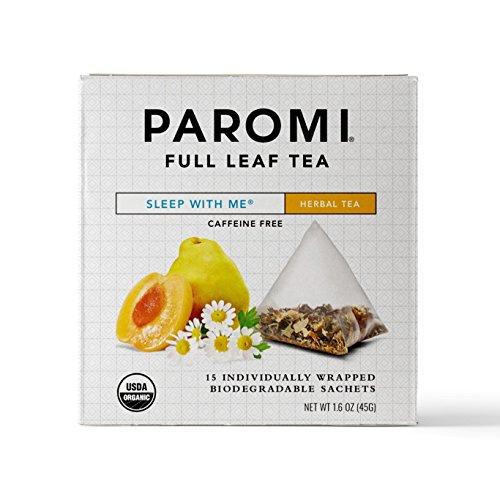Paromi Tea Organic Sleep with Me Caffeine-Free Herbal Tea, 15 Pyramid Tea Bags (Pack of 6) Non-GMO from Paromi